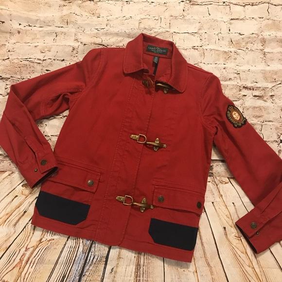 dcbebcdd03 Ralph Lauren Cotton Denim Red Fireman Jacket